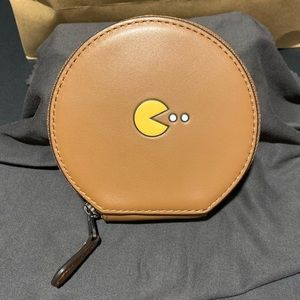 Coach x Pac-Man leather round case